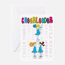 Cheerleader Youth Design Greeting Card