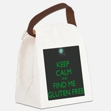 Keep Calm and Find Me Gluten Free Canvas Lunch Bag