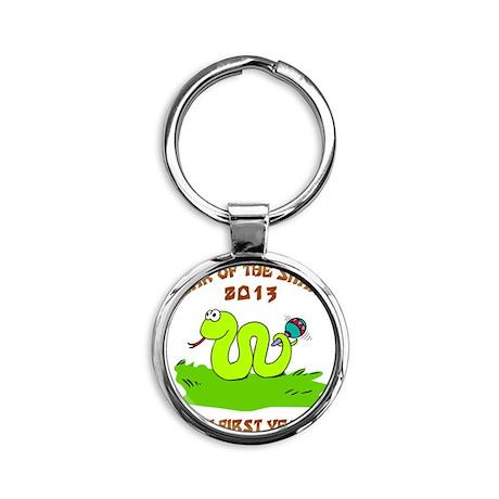 Year of Snake 2013 Round Keychain