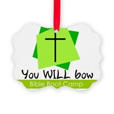 you will bow bible boot camp chri Ornament