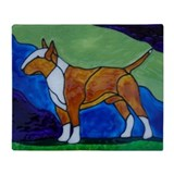 Bull terrier Fleece Blankets