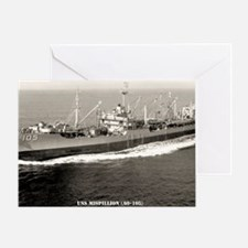 uss misillion framed panel print Greeting Card