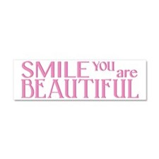 Smile you are Beautiful Car Magnet 10 x 3