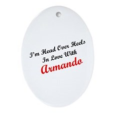 In Love with Armando Oval Ornament