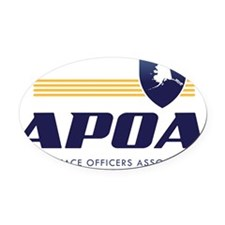 Alaska Peace Officers Association  Oval Car Magnet