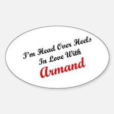 In Love with Armand Oval Decal