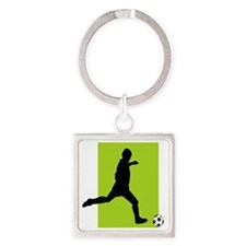 Soccer103 Square Keychain