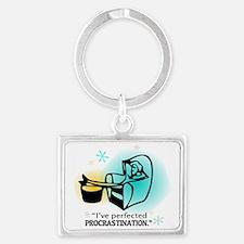 """""""I've perfected procrastination Landscape Keychain"""
