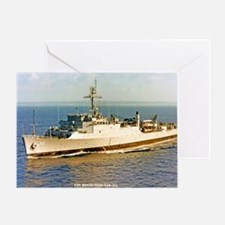 uss monticello large framed print Greeting Card