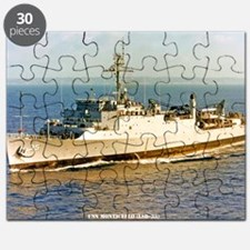 uss monticello large framed print Puzzle