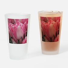 Pink Tulip Drinking Glass