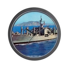 uss niagara falls framed panel print Wall Clock
