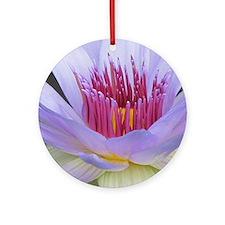 Purple Waterlily Round Ornament