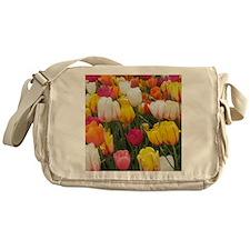 Spring Tulip Field Messenger Bag