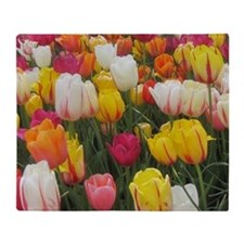 Spring Tulip Field Throw Blanket