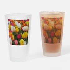 Spring Tulip Field Drinking Glass
