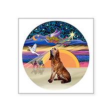 """R-XmasAngel-Bloodhound Square Sticker 3"""" x 3"""""""