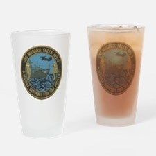 uss niagara falls patch transparent Drinking Glass