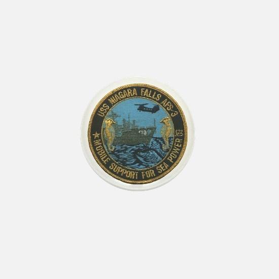 uss niagara falls patch transparent Mini Button
