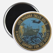 uss niagara falls patch transparent Magnet