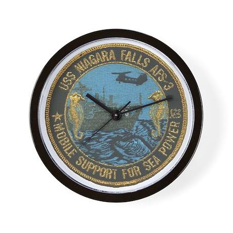 uss niagara falls patch transparent Wall Clock