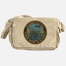 uss niagara falls patch transparent Messenger Bag