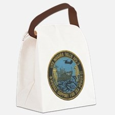 uss niagara falls patch transpare Canvas Lunch Bag
