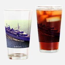 uss orion framed panel print Drinking Glass