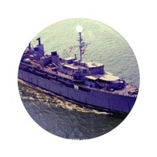 uss orion framed panel print Round Ornament