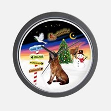 R-XmasSigns-Bloodhound Wall Clock