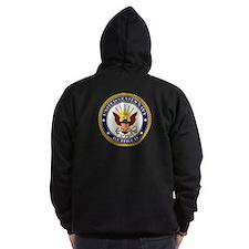 USN Navy Retired Eagle Zip Hoodie