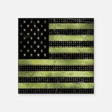 "Grunge American Flag duvet  Square Sticker 3"" x 3"""