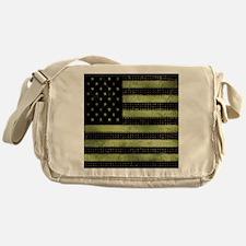 Grunge American Flag duvet design Messenger Bag