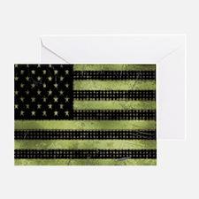 Grunge American Flag duvet design Greeting Card