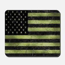 Grunge American Flag duvet design Mousepad