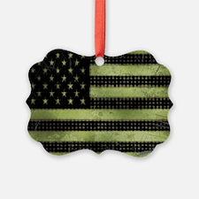 Grunge American Flag duvet design Ornament