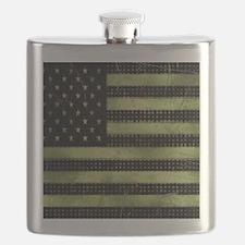 Grunge American Flag duvet design Flask