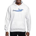 Dolphin Lover Illustration Hooded Sweatshirt
