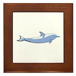 Dolphin Lover Illustration Framed Tile