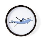 Dolphin Lover Illustration Wall Clock