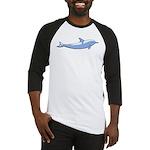 Dolphin Lover Illustration Baseball Jersey