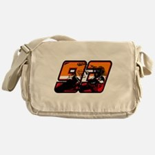 93ghostorange Messenger Bag