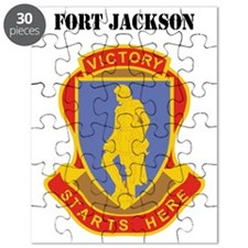 Fort Jackson with Text Puzzle