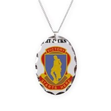 Fort Jackson with Text Necklace Oval Charm