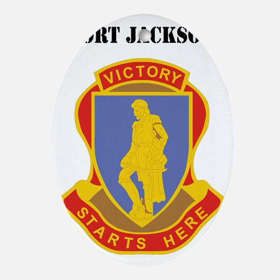 Fort Jackson with Text Oval Ornament