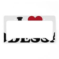 I Love Odessa License Plate Holder