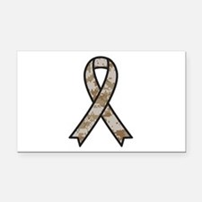 Military Support Ribbon Rectangle Car Magnet
