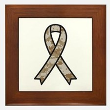 Military Support Ribbon Framed Tile