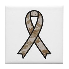 Military Support Ribbon Tile Coaster