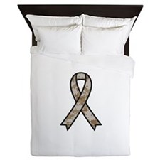 Military Support Ribbon Queen Duvet